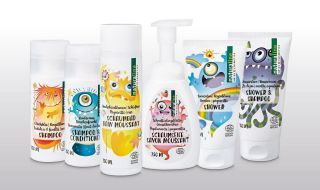 The naturaline Swiss cosmetics children's skin care products are fun.