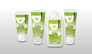 Mild baby care products of naturaline Swiss cosmetics.