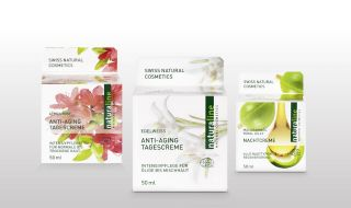 naturaline Swiss cosmetics products for a particularly intensive facial care.